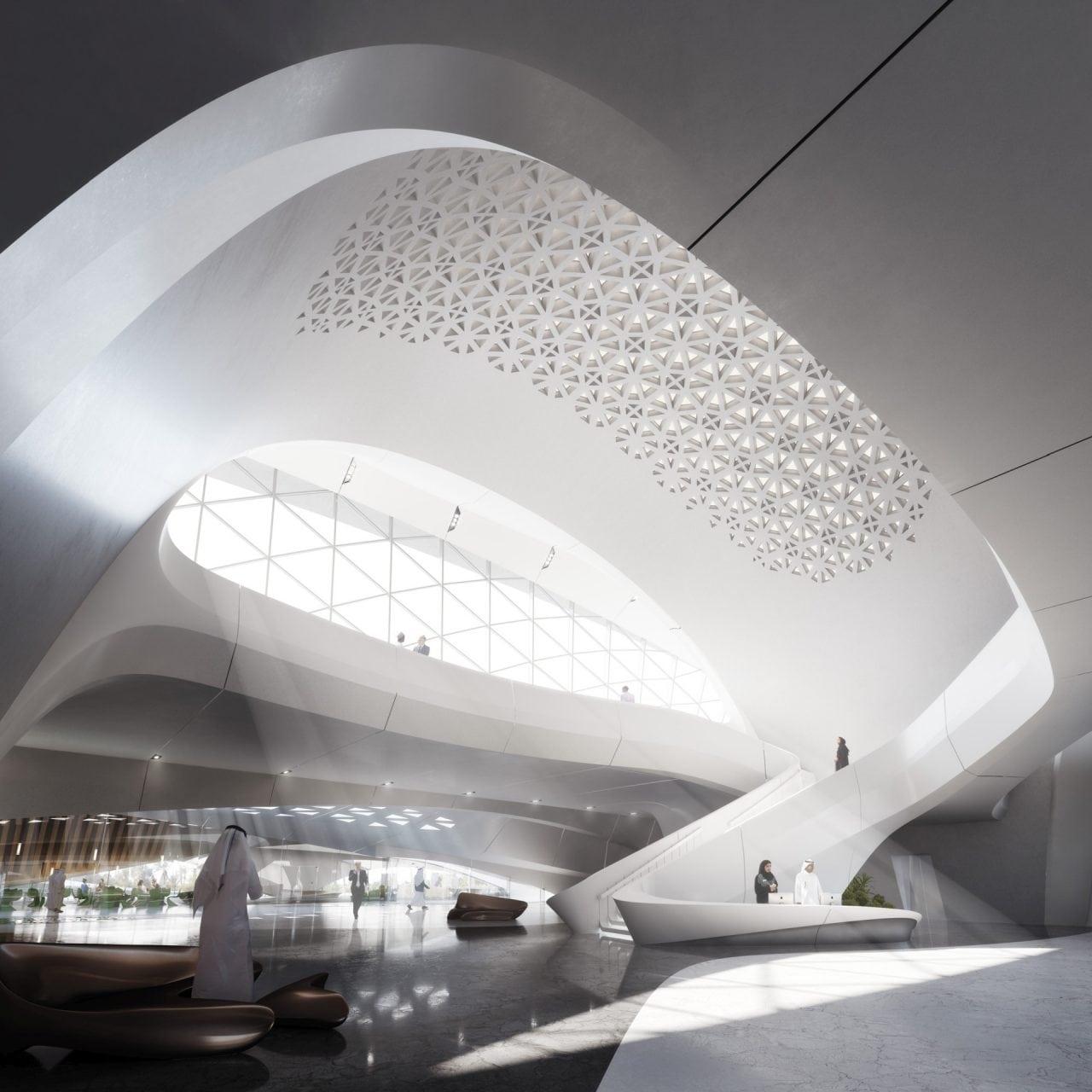 05. Beeah HQ interior - Zaha Hadid – Expresia geniului in Futurism