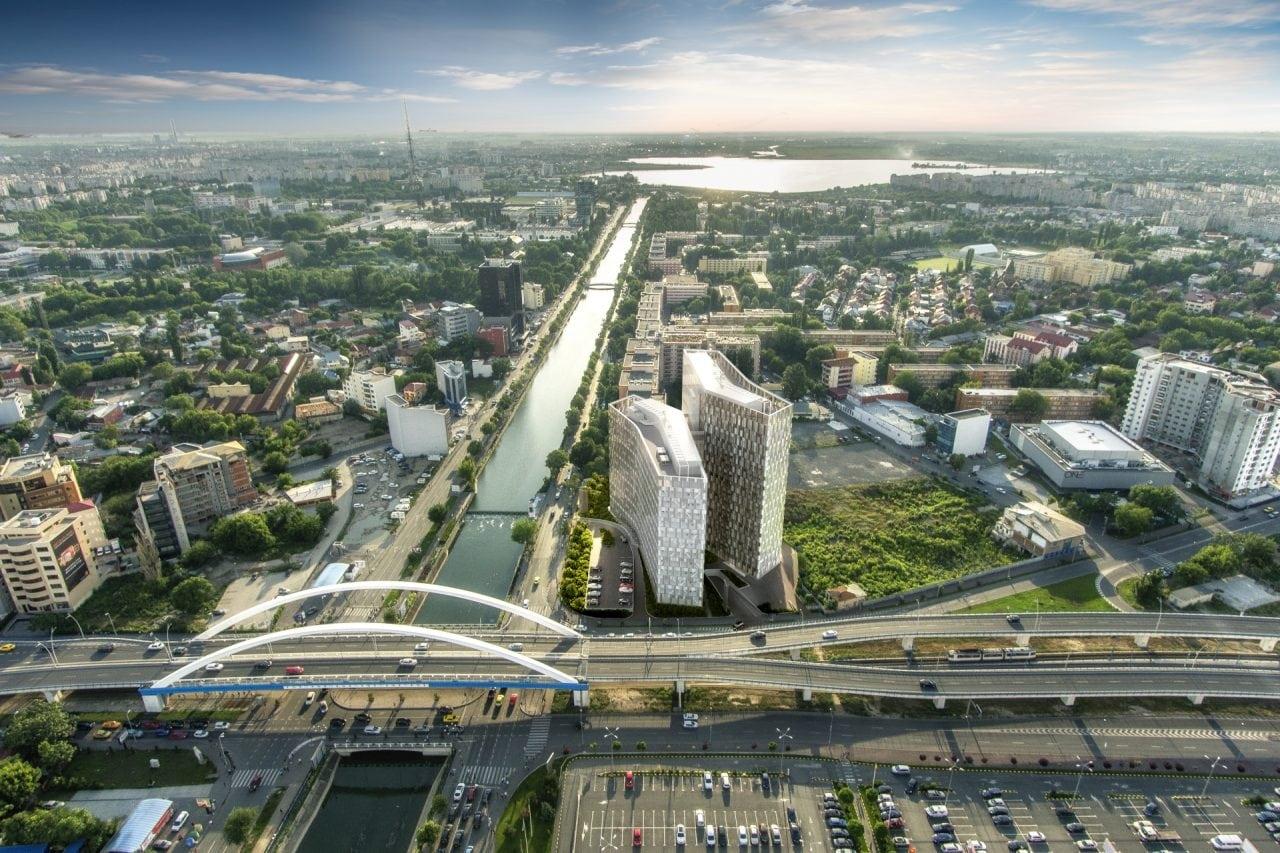 Bukarest Büro Orchidea Towers Visualisierung aussen 2 - Politehnica - noua destinatie in business