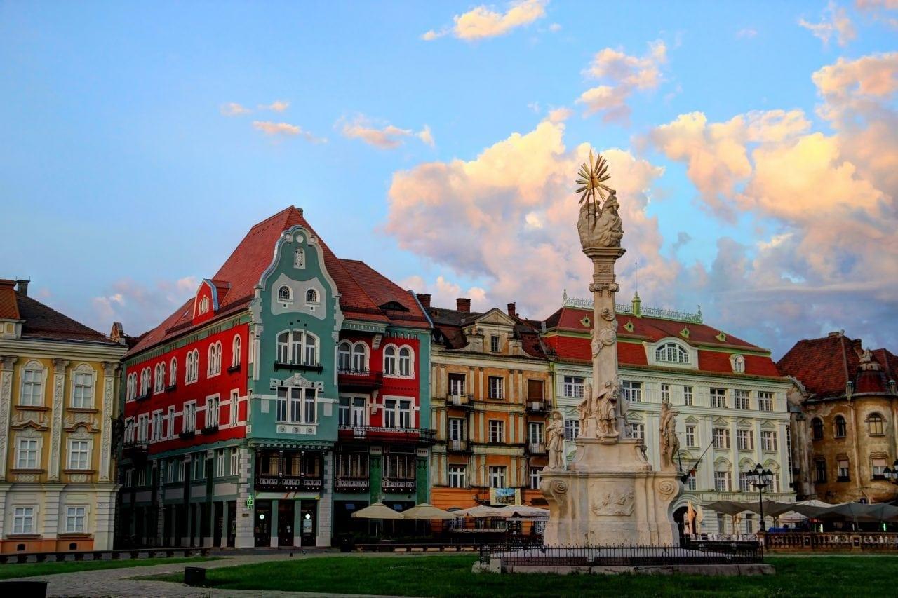 Holy Trinity Monument, Unirii Square, Timisoara, Romania
