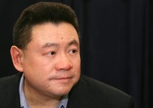 Joseph Lau Leun Hung, Chairman, Chief Executive Officer of Chinese Estates Holdings Limited attends a AGM meeting in Hong Kong, Tuesday, May 15, 2007. (Tse Ka Yin/EyePress News)