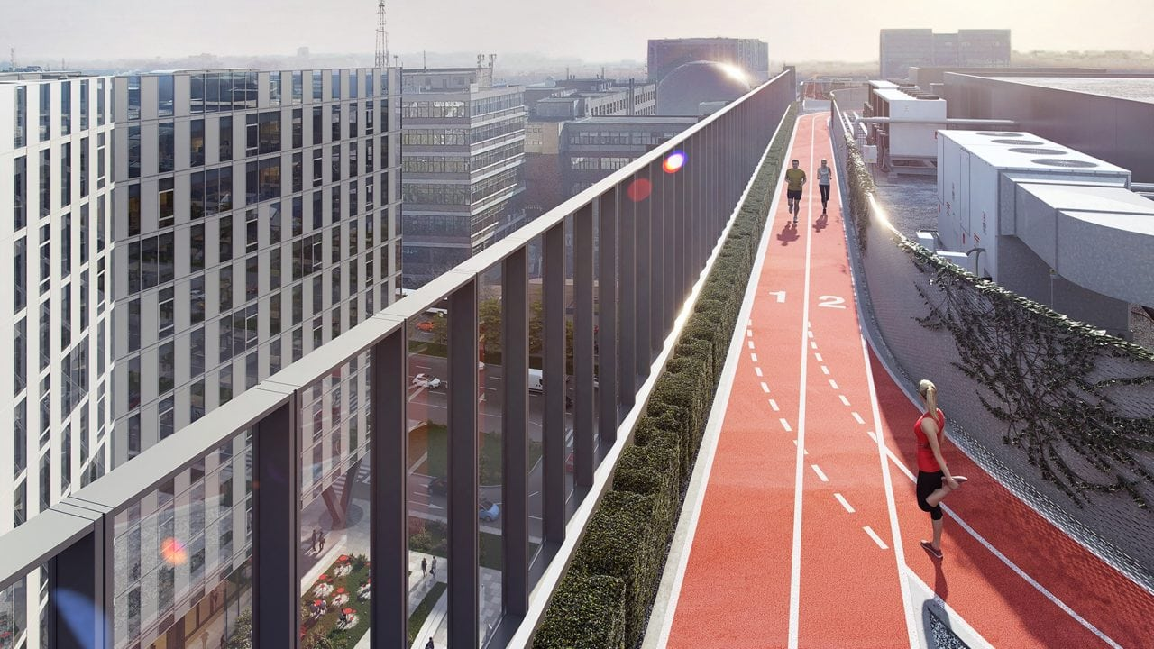 skanska campus 6 - Skanska pregateste o pista de alergare pe acoperisul unei cladiri de birouri din Campus 6