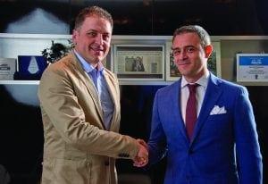 Marcello Fumante (foreign sales manager Berti) și Francesco Curcio (director general executiv Pinum)