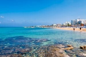 cipru 300x200 - Coastline of Ayia Napa with beach and hotels. Famagusta District. Cyprus