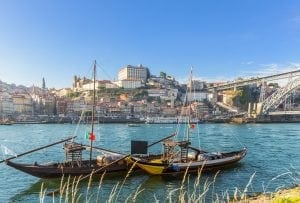 portugalia 300x203 - Porto oldtown wine port skyline with douro river and traditional Rabelo boat,Portugal