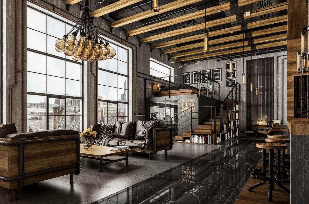 7 - Stilul industrial modern în designul interior