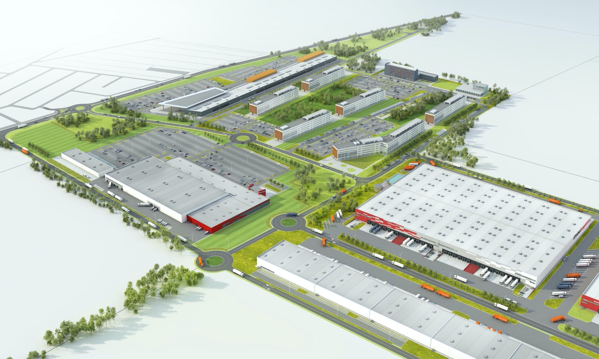 Constanta Business Park 3 copy - Globalworth Industrial, Global Vision dezvoltă 550.000 mp în proiectul mixed-use Constanța Business Park