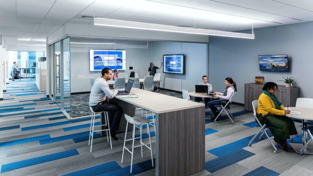 interior 1024x576 - Inovarea la nivelul facilităților din clădirile de birouri, pe agenda proprietarilor de proiecte