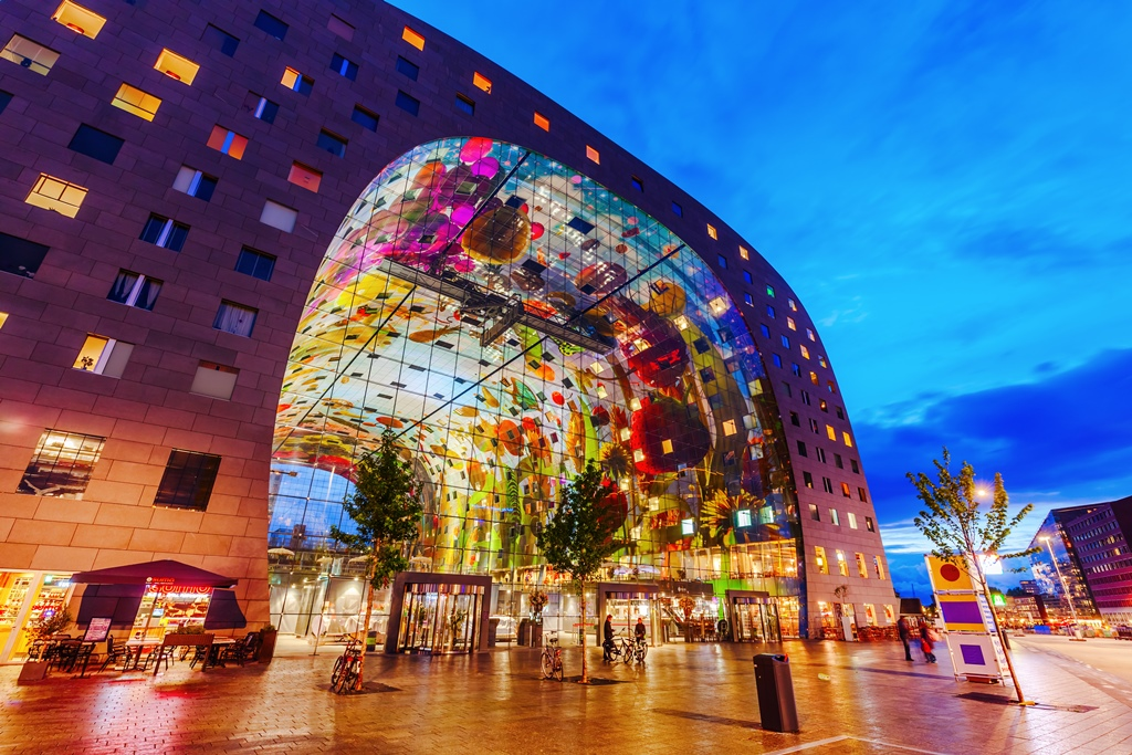 Markthal Rotterdam Olanda - Cele mai neobișnuite construcții din Europa