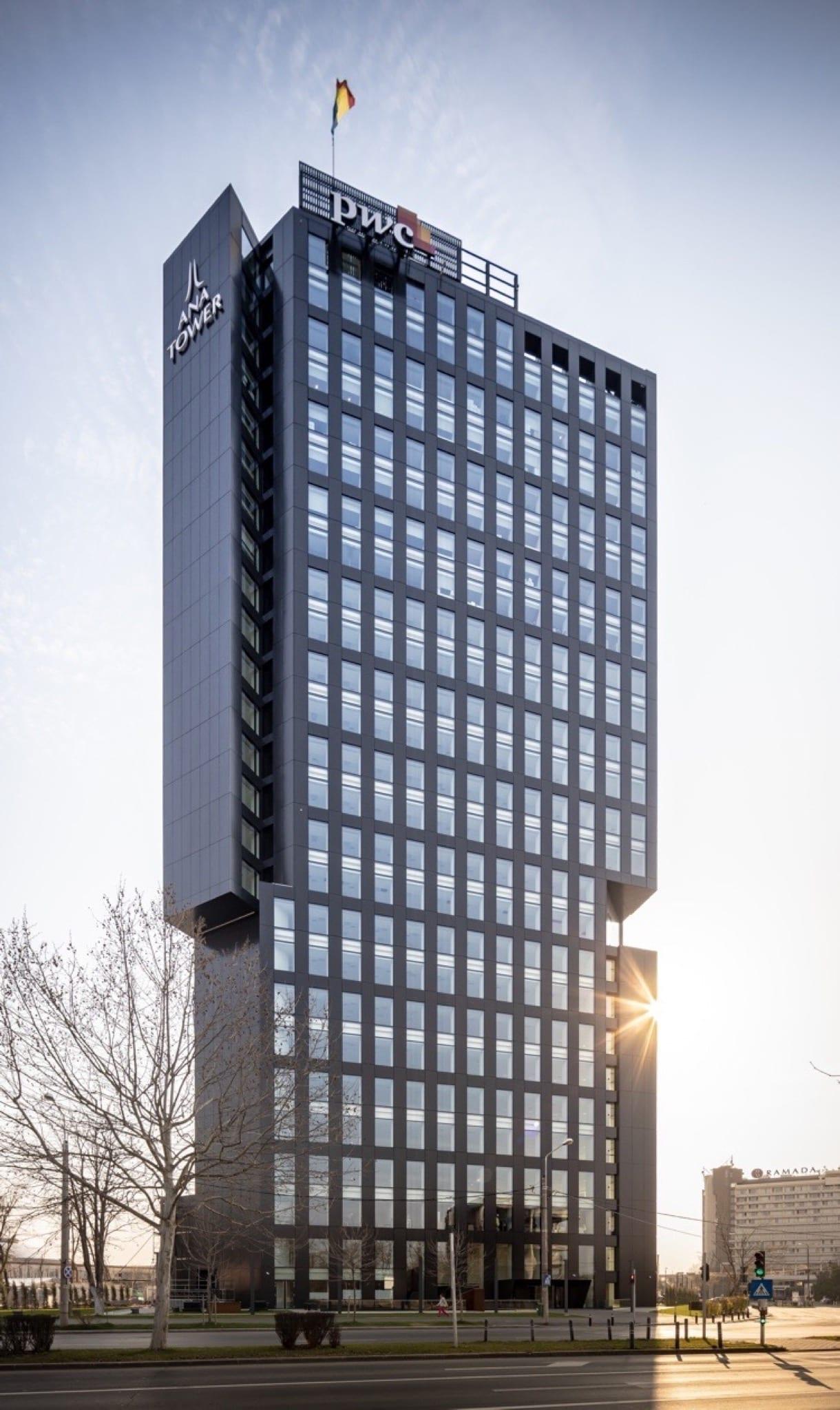 Ana Tower VP1 copy - Soluția unică de fațadă Alukönigstahl pentru Ana Tower