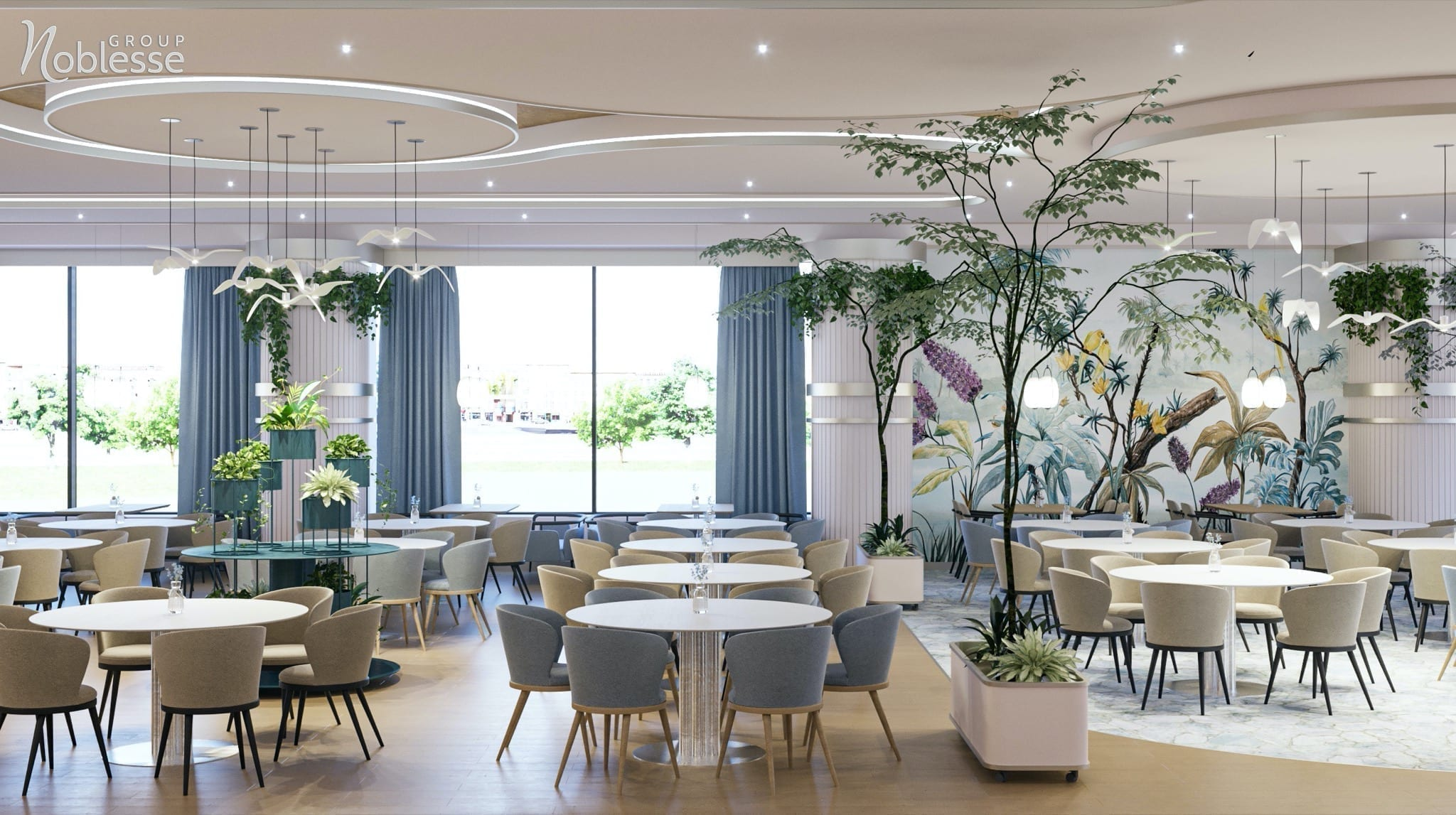 "Restaurant Natura Lake 1 copy - Noblesse Group câștigă titlul ""Best for HORECA Project Architecture, 2020 – Romania"""