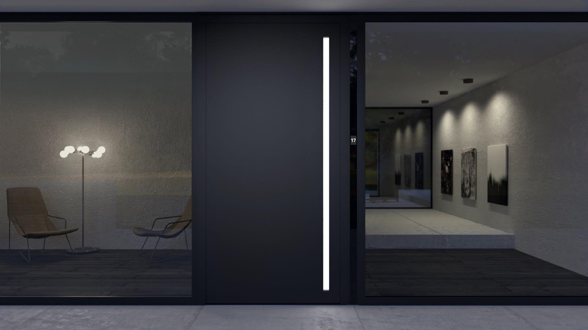 ADS 90 SI SimplySmart Design Edition m Nachtansicht copy - Soluțiile Smart Home de la Schüco, pentru confort, siguranță și eficiență energetică
