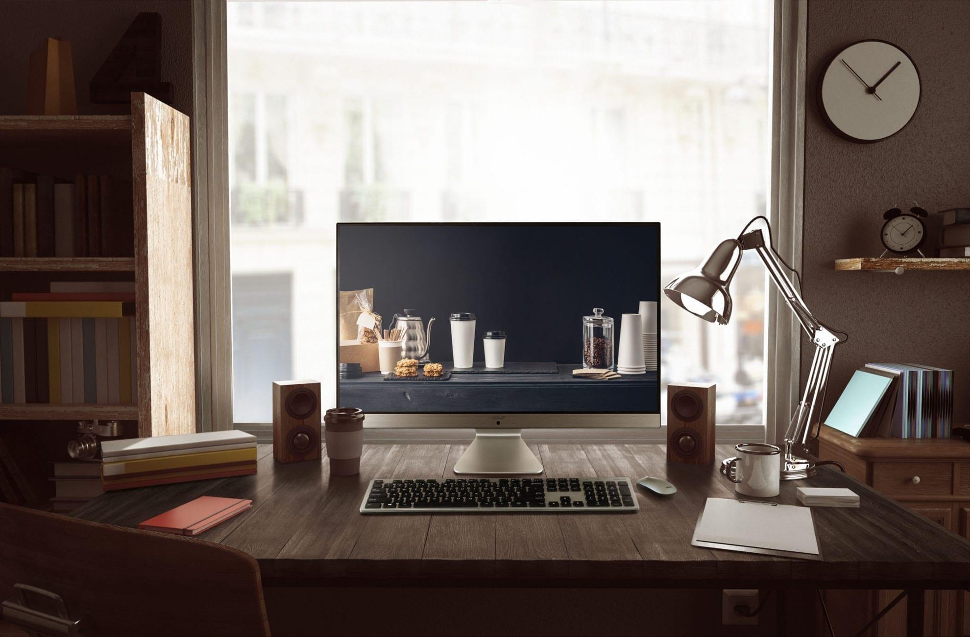 Asus Vivo AiO M241 scaled 1 - ASUS prezintă o nouă soluție All-in-One pentru birou și acasă: o experiență de divertisment foarte bună cu noul Vivo AiO M241