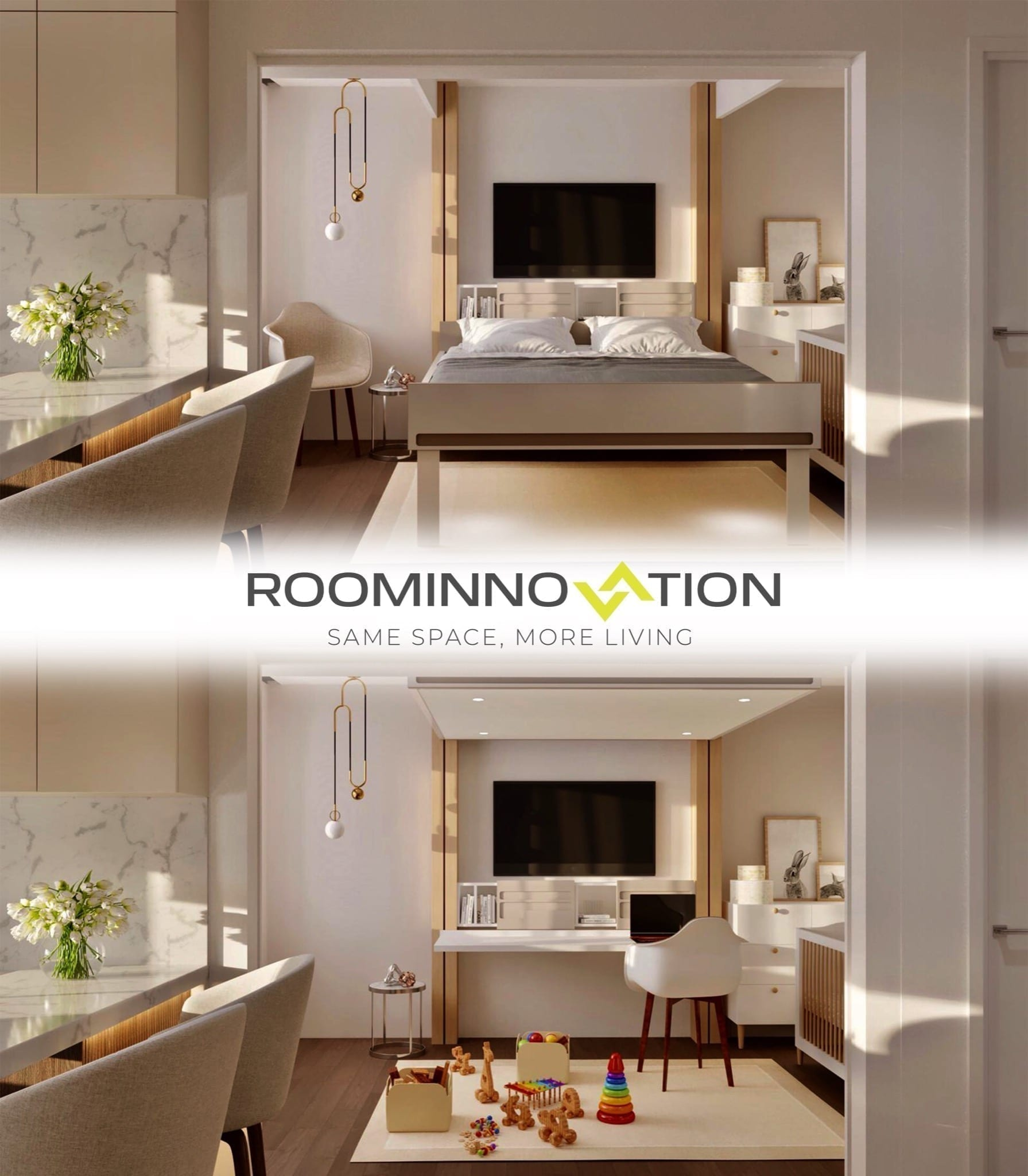 pat blur alb 2 copy - RoomInnovation, conceptul inovator care revoluționează conceptul clasic de apartament