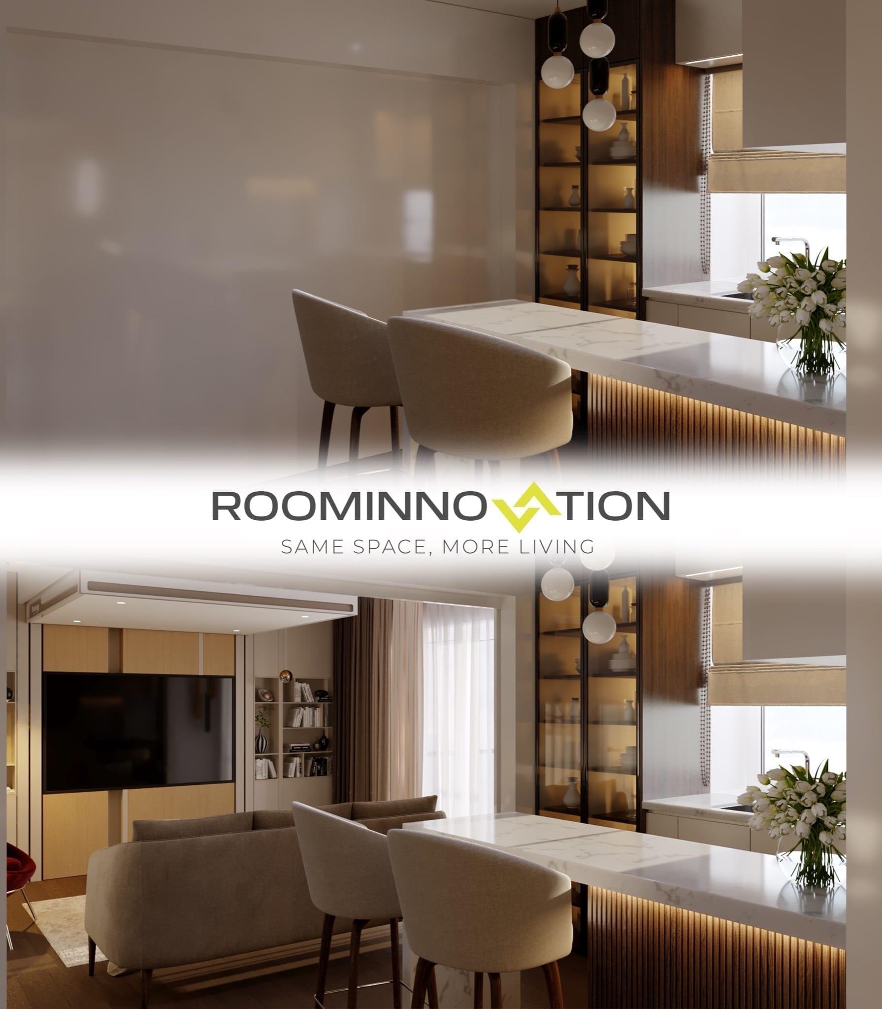 perete blur alb 1 copy - RoomInnovation, conceptul inovator care revoluționează conceptul clasic de apartament