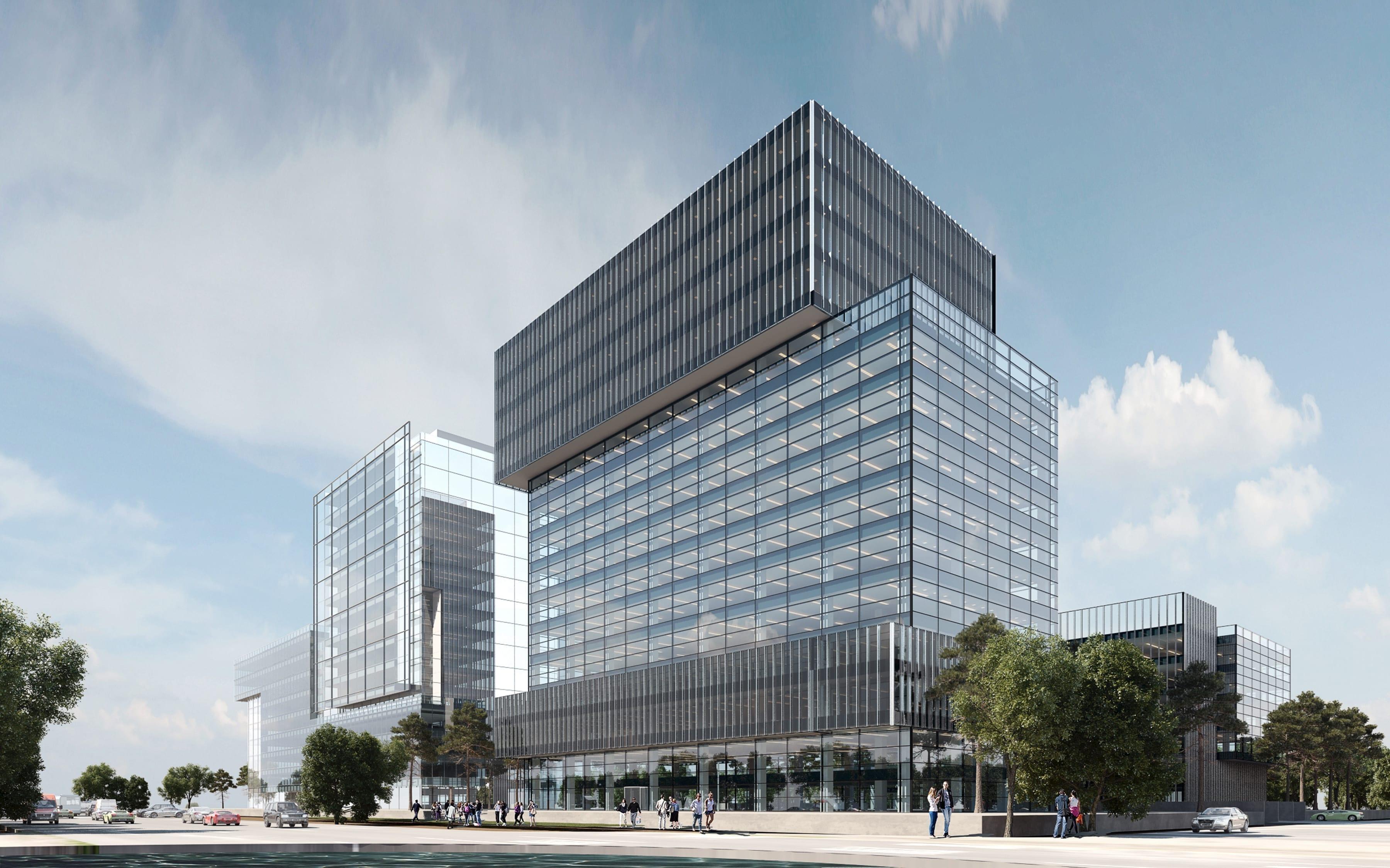 Sema Parc LondonOslo vedere laterala 02 - Topul proiectelor de birouri din București cu livrare în 2021