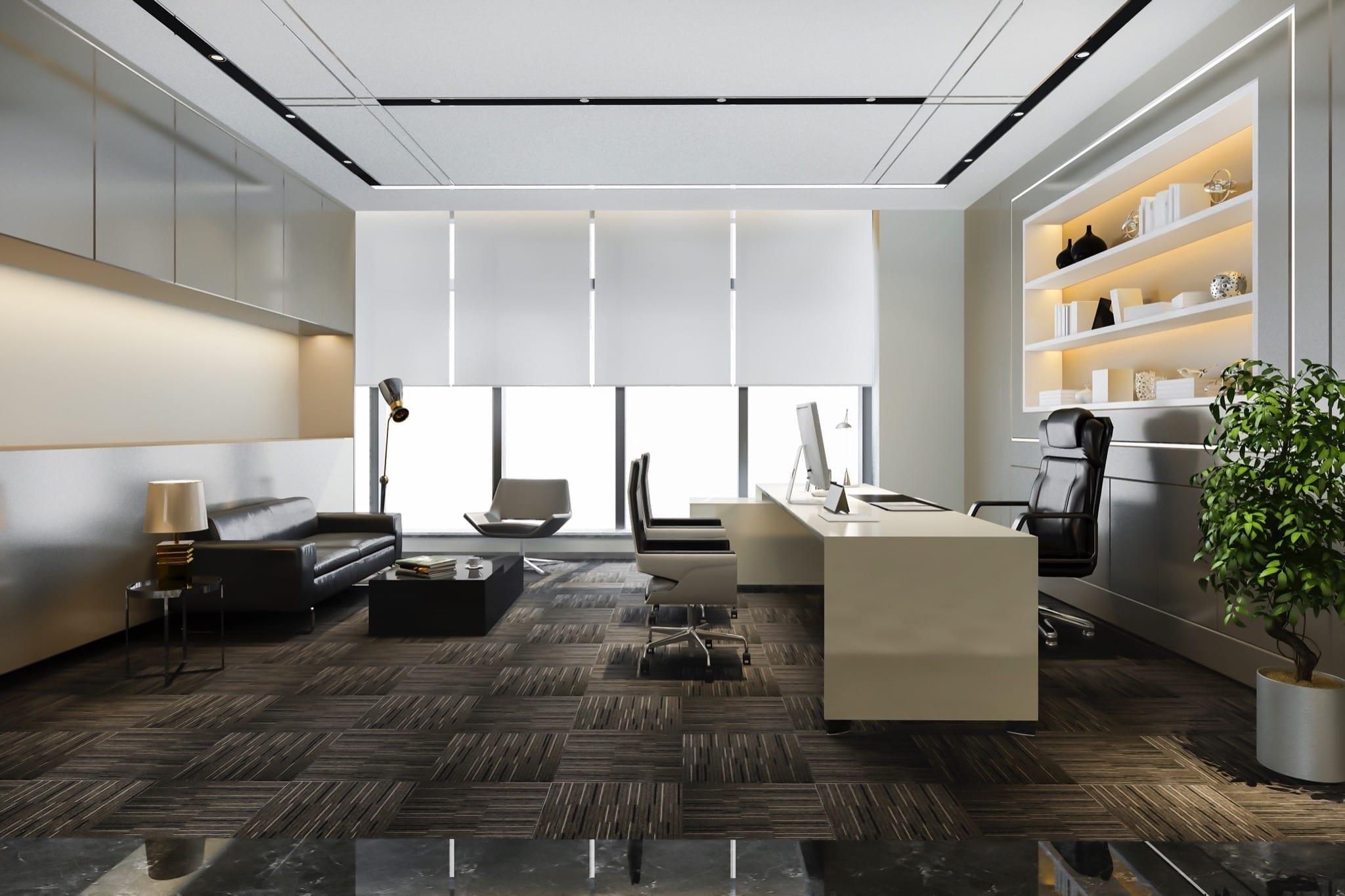 luxury working room executive office copy - Reluarea activității în spațiile de birouri, impact asupra pieței de închirieri în 2021