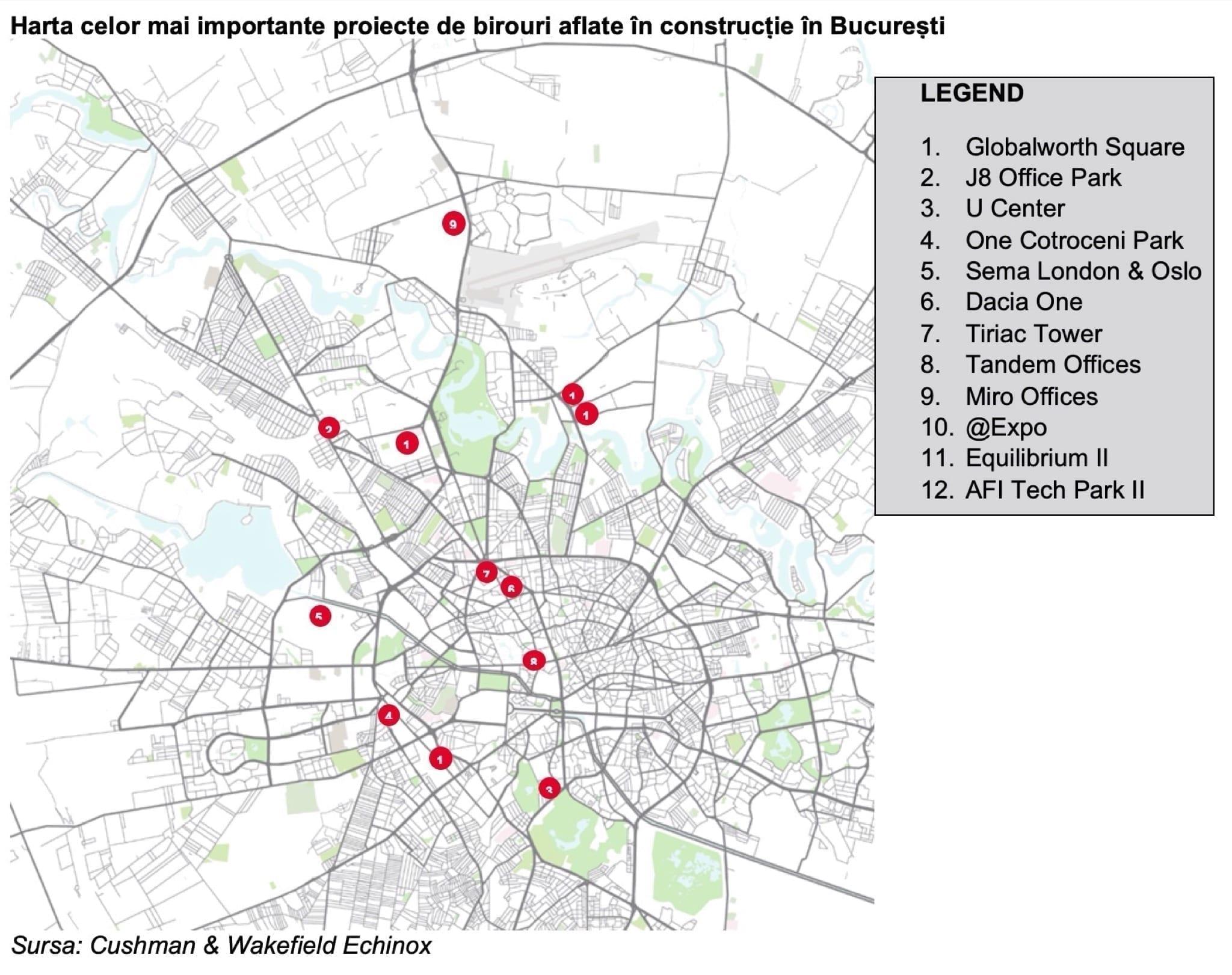 birouri - C&W Echinox: Nivelul de utilizare al birourilor din București, la 40-50%