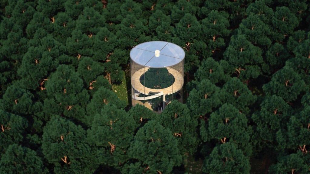 Transparent tubular tree house 2 copy 1024x576 - Case cu design ultra-original (II)